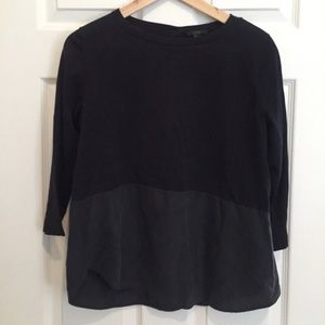 COS Top with Silk Panel